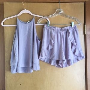 Two piece lavendar romper